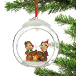 DSJ Christmas Chip & Dale Ornament Glass Ball
