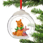 DSJ Christmas Pooh & Piglet Ornament Glass Ball