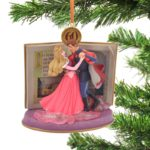 DSJ Christmas Princess Aurora & Prince Philip Ornament Pink Legacy