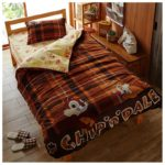 DSJ Chip And Dale Plaid Microfiber Bedclothes 3 Piece Set (Twin)