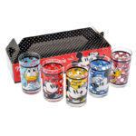 DSJ Mickey And Friends Dot Pattern glass Cup Set