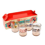 DSJ Vintage Diner Mickey And Friends Stacking glass cup Set