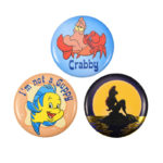 DSJ Tin Badge Collection Ariel, Sebastian, Flounder