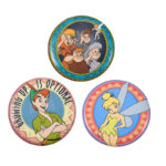 DSJ Tin Badge Collection Peter Pan, Tinker Bell, Lost Boys