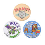 DSJ Tin Badge Collection Buzz Lightyear, hum, Slinky Dog