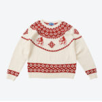 TDR Mickey Mouse Face Sweater (S/M/L) White and Red for japanese Adult Unisex