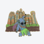 TDR Stitch hula Pin Badge