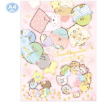 SAX Sumikko Gurashi 2 Pocket Clear Folder (Sleepover)