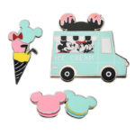 DSJ Mickey and Minnie Ice Cream Track Pin Badge