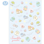 SAX Sumikko Gurashi 10 Pocket Clear Folder (Sleepover)