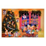 DSJ Christmas Mickey and Minnie, Morty and Ferdie Postcard