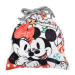 DSJ Holiday Drawstrings Pouch Mickey and Minnie