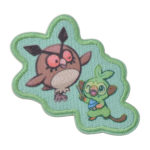 PCO Snorlax yawn Patch Sticker Hoothoot and Grookey