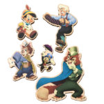 DSJ Pinocchio 80th Pin Badge Set