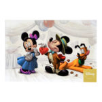 DSJ Valentine Heart Mickey Minnie Pluto Postcard