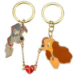 DSJ Lady and the Tramp Keyholder / Keychain heart pair
