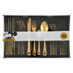 DSJ Disney Eats Mickey Cutlery set Gold color