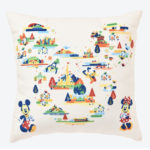 TDR Disney Characters Map Design Cushion