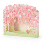 SRO SAKURA 2020 Weeping cherry Greeting Card HelloKitty