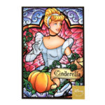 DSJ Stained glass Postcard Cinderella