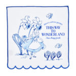 DSJ Scalloped Mini Hand Towel Alice In Wonderland 25x25cm