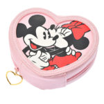 DSJ Heart Pink Mickey and Minnie Heart Pouch