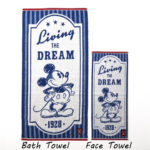 BEL Organic cotton jacquard towel Face Towel Mickey (Blue)