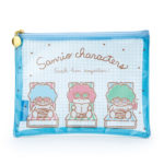 SRO Travel mesh flat pouch Sanrio Characters (B)