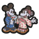 DSJ Japan Culture Pin Badge Embroidery Mickey and Minnie