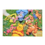 DSJ Postcard Winnie the Pooh and Friends Break time