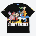 TDR Disney Besties T-Shirts  (LL)  Japanese Adult Unisex Black
