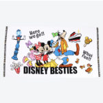 TDR Disney Besties Wide Bath Towel