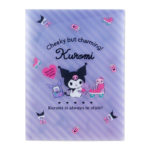 SRO A4 Pocket Clear file with gusset Kuromi