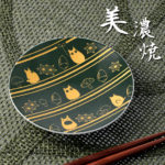 GHI My Neighbor Totoro small plate (round) striped Totoro