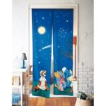 BEL Door Curtain Night Sky Winnie the Pooh
