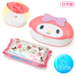 SRO Wet tissue with face-shaped case My Melody