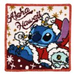 DSJ Hawaiian Christmas Square hand towel (9.84inch) Stitch and Scrump