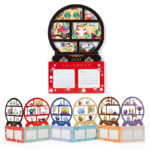 SRO Circle Shelf Japanese Calendar Card HelloKitty