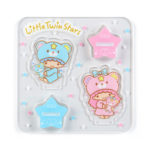 SRO LittleTwinStars 45th anniversary Acrylic stand stamp Puff and Poff (Twinkle Color)