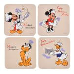 DSJ Retro Kitchen Mickey and Friends Coaster set