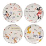 DSJ Retro Kitchen Mickey and Friends Plates set