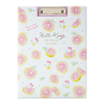 SRO HAPPINESS GIRL Hello Kitty A4 Clipboard (Grapefruit)