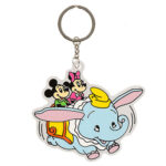 TDR Park Attractions Design Dumbo the Flying Elephant Keychain Mickey and Minnie