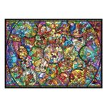 DSJ Disney all characters Jigsaw Puzzle smallest 1000pieces All-star stained glass