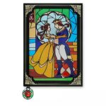 DSJ Stained Glass Window Beauty and the Beast Notebook