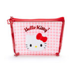 SRO Plaid Vinyl pouch Hello Kitty