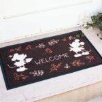 BEL Flower Language Doormat Mickey mouse and Minnie mouse (52×73 cm)
