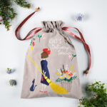 GHI Kiki's Delivery Service Natural Embroidery Series drawstring pouch
