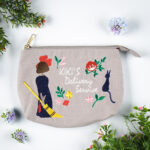 GHI Kiki's Delivery Service Natural Embroidery Series Pouch with gusset