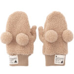 TDR Park Limited Tag Design Mittens Gloves Beige Mickey Mouse